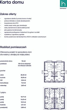 Dom w inwestycji Domy Bliźniacze WYSOGOTOWO, Wysogotowo, 116 m²   Morizon.pl   0998