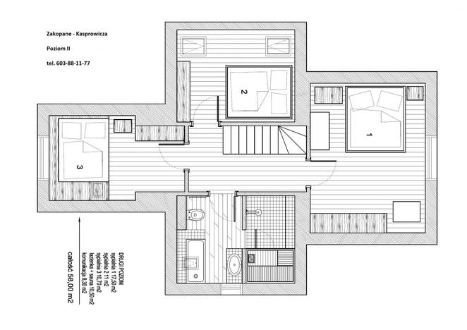 Mieszkanie na sprzedaż, Zakopane Kasprowicza, 86 m² | Morizon.pl | 0784