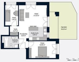 Mieszkanie w inwestycji Wilanów, Al. Rzeczypospolitej, Warszawa, 58 m²