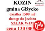 Działka na sprzedaż, Kozin, 1500 m²