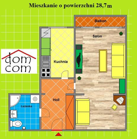 Kawalerka na sprzedaż, Zabrze Rokitnica, 28 m² | Morizon.pl | 6436