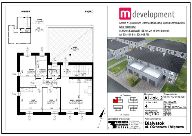 Mieszkanie na sprzedaż, Białystok Bacieczki, 87 m² | Morizon.pl | 5792