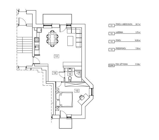 Mieszkanie na sprzedaż, Kraków Sokola, 51 m² | Morizon.pl | 0640