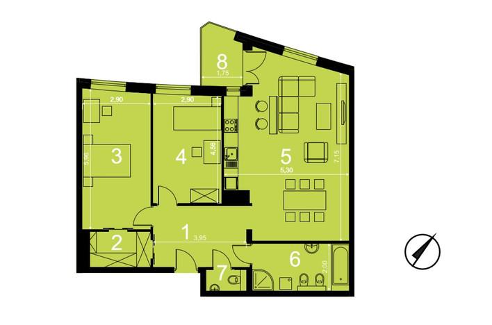 Mieszkanie na sprzedaż, Kraków Olsza, 91 m² | Morizon.pl | 8134