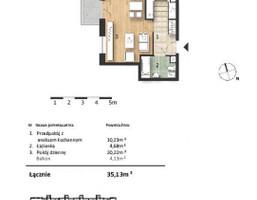 Mieszkanie w inwestycji Osiedle Słoneczne, Bydgoszcz, 35 m²