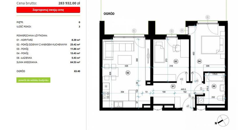 Mieszkanie na sprzedaż, Sady, 65 m² | Morizon.pl | 1615