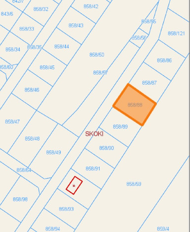 Działka na sprzedaż, Skoki Brzoskwiniowa, 822 m² | Morizon.pl | 3896
