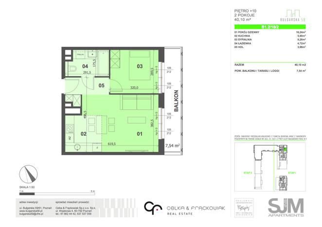 Mieszkanie na sprzedaż, Poznań Grunwald, 40 m² | Morizon.pl | 7744