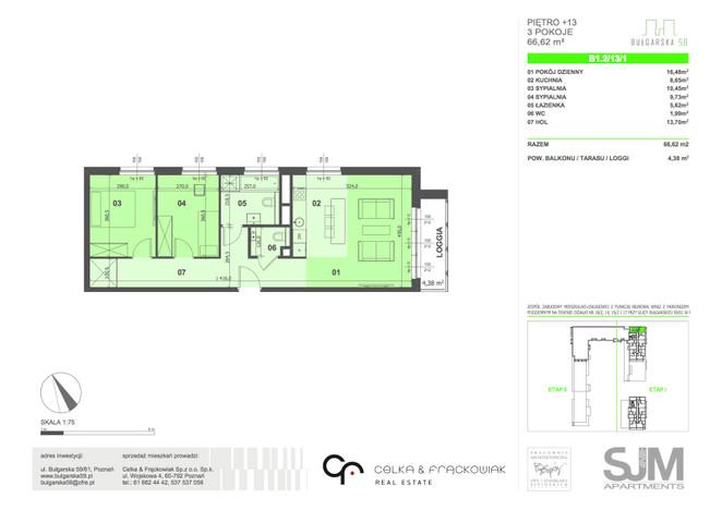 Mieszkanie na sprzedaż, Poznań Grunwald, 67 m² | Morizon.pl | 7987