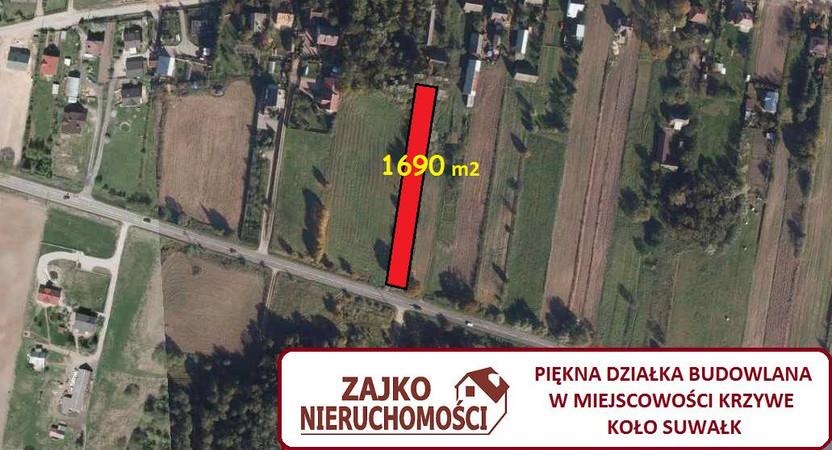 Działka na sprzedaż, Krzywe, 1690 m² | Morizon.pl | 2433