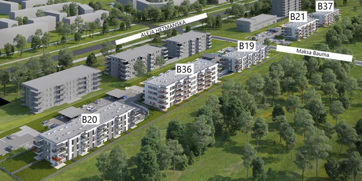 Morizon WP ogłoszenia | Nowa inwestycja - Mieszkania Hetmańska, Łódź Olechów-Janów, 48-77 m² | 9090