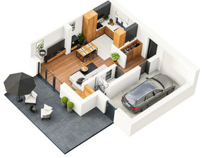 Dom w inwestycji Osiedle Słoneczne, Baszkówka, 119 m²