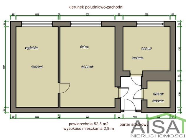 Mieszkanie na sprzedaż, Białystok Centrum, 53 m² | Morizon.pl | 0385