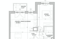 Mieszkanie w inwestycji Mokotów, ul. Kłobucka, Warszawa, 41 m²