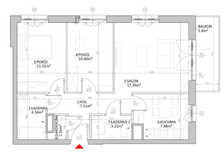 Mieszkanie w inwestycji Mokotów, ul. Kłobucka, Warszawa, 66 m²