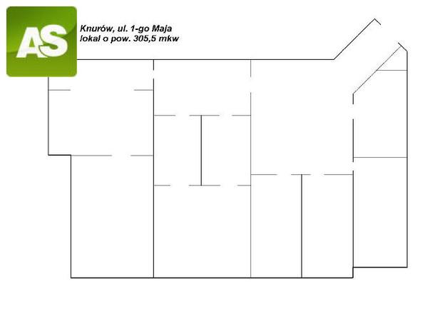 Lokal użytkowy do wynajęcia, Knurów 1-Maja, 306 m² | Morizon.pl | 9122