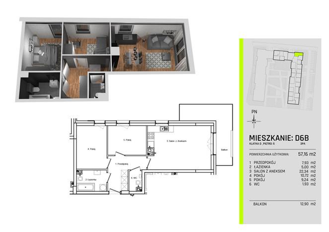 Morizon WP ogłoszenia | Mieszkanie na sprzedaż, Łódź Teofilów, 57 m² | 8577