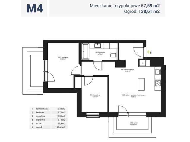 Morizon WP ogłoszenia | Mieszkanie w inwestycji Osiedle Pochyła, Warszawa, 58 m² | 0503
