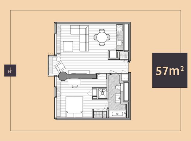Mieszkanie do wynajęcia, Warszawa Śródmieście, 57 m² | Morizon.pl | 5958