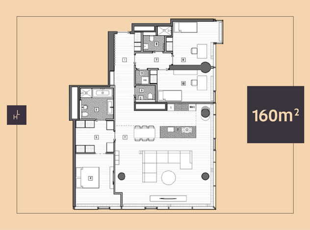 Mieszkanie do wynajęcia, Warszawa Śródmieście, 160 m² | Morizon.pl | 6146