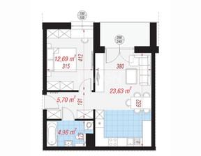 Mieszkanie na sprzedaż, Polkowice Fiołkowa, 47 m²