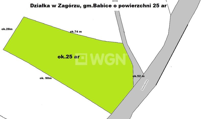 Działka na sprzedaż, Zagórze Zagórze, 2507 m² | Morizon.pl | 5002