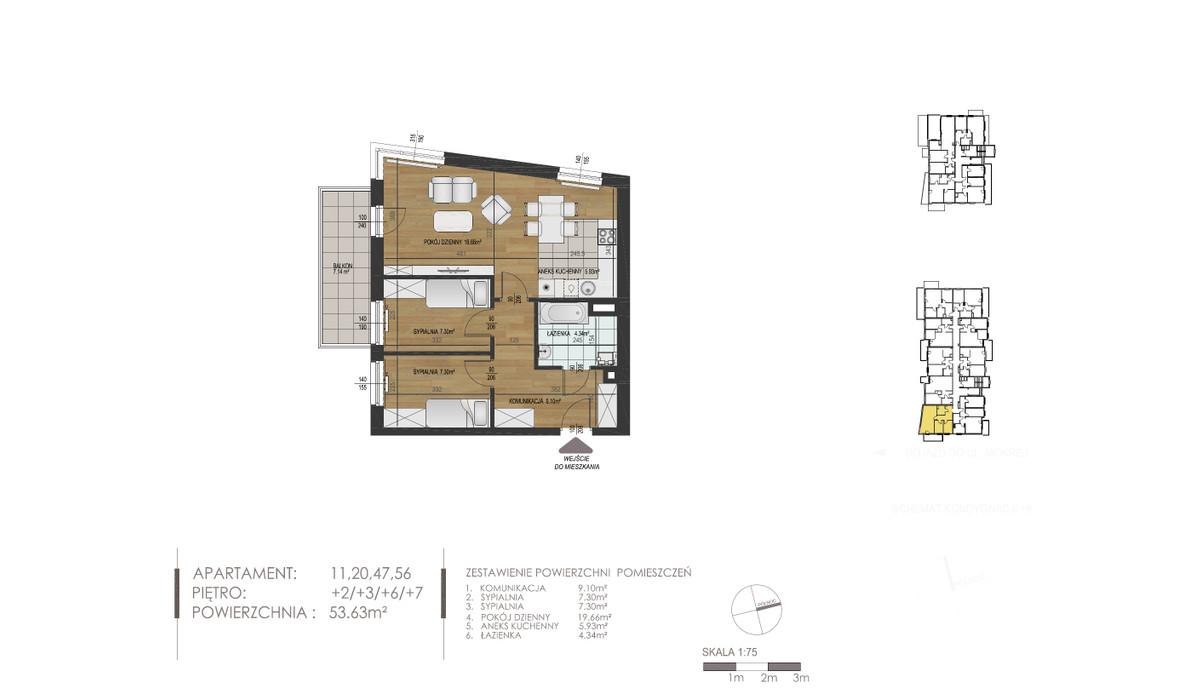 Mieszkanie w inwestycji Mokra 10, Łódź, 54 m²   Morizon.pl   1348