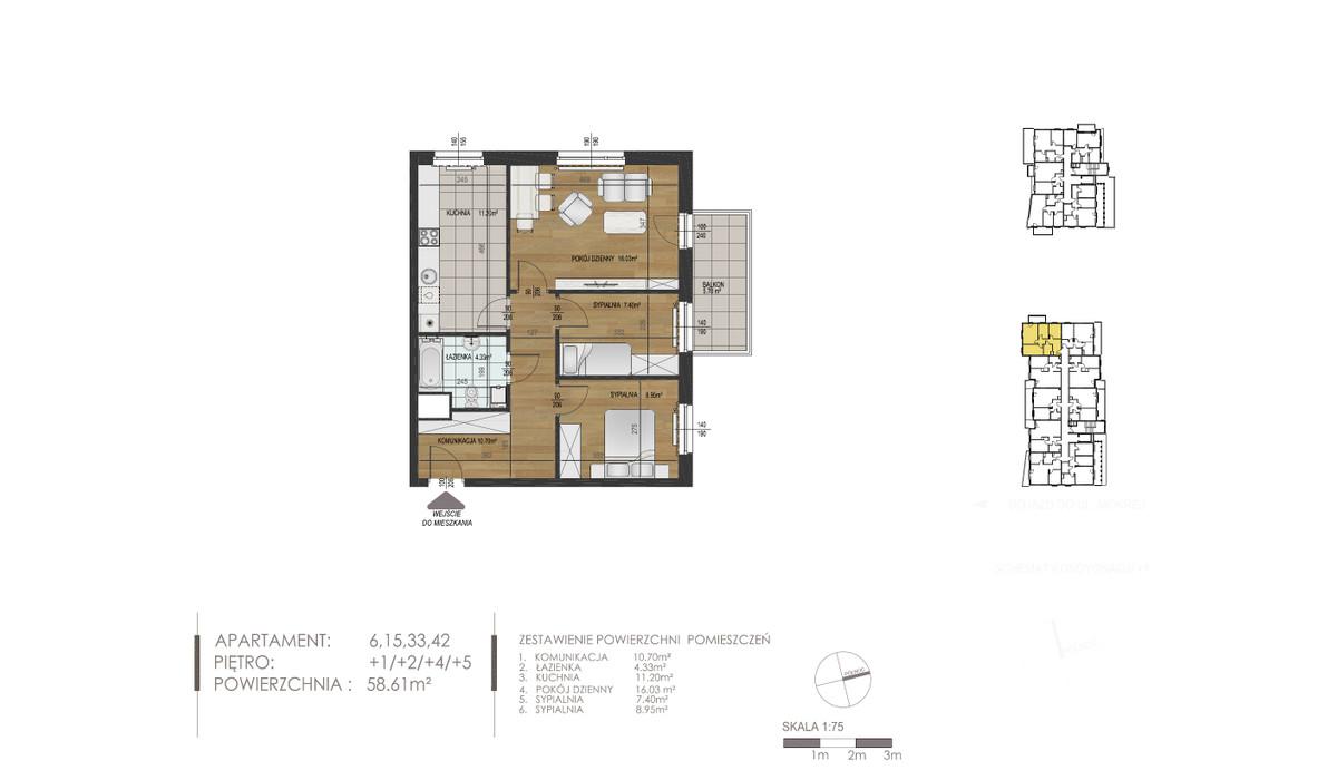 Mieszkanie w inwestycji Mokra 10, Łódź, 59 m²   Morizon.pl   1370