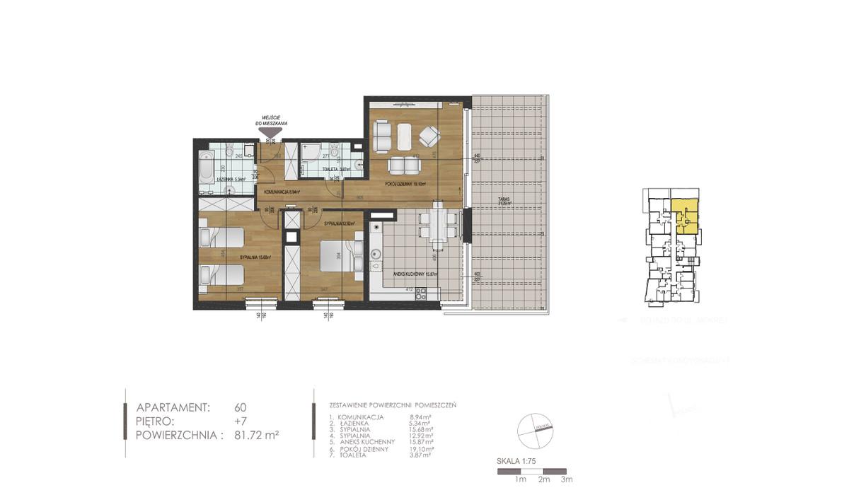 Mieszkanie w inwestycji Mokra 10, Łódź, 82 m²   Morizon.pl   1397