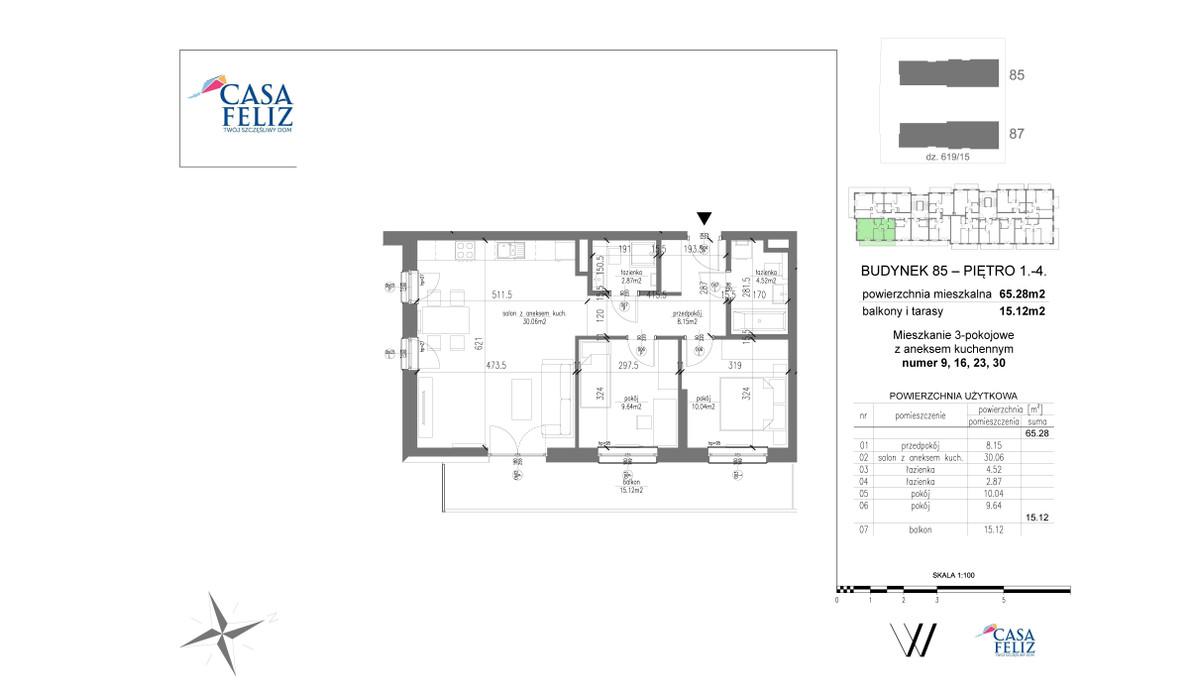Mieszkanie w inwestycji Casa Feliz etap VI, Kraków, 65 m² | Morizon.pl | 6800