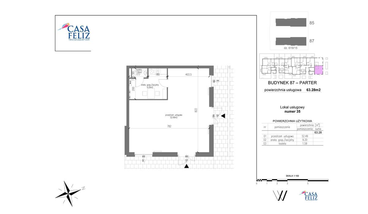 Mieszkanie w inwestycji Casa Feliz etap VI, Kraków, 63 m² | Morizon.pl | 6978