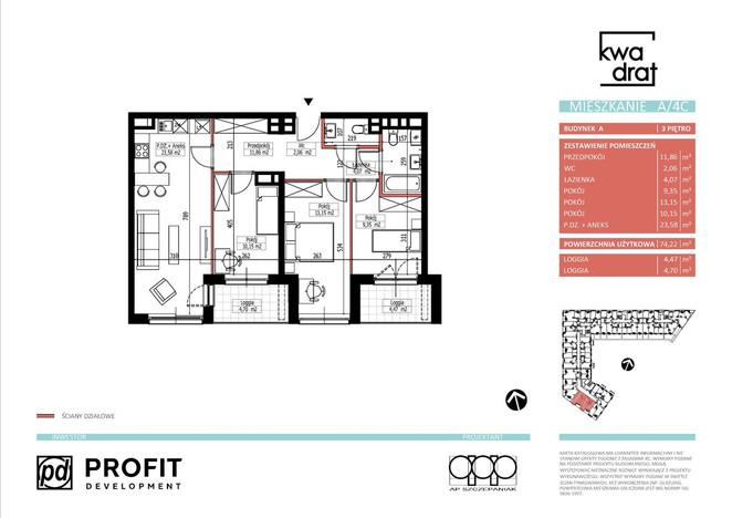 Mieszkanie w inwestycji Kwadrat, Wrocław, 73 m²   Morizon.pl   9668