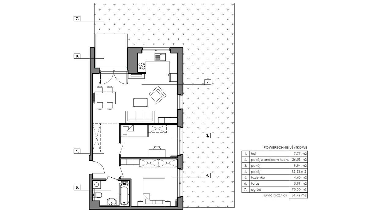 Mieszkanie w inwestycji Signum, Gdynia, 65 m² | Morizon.pl | 6483