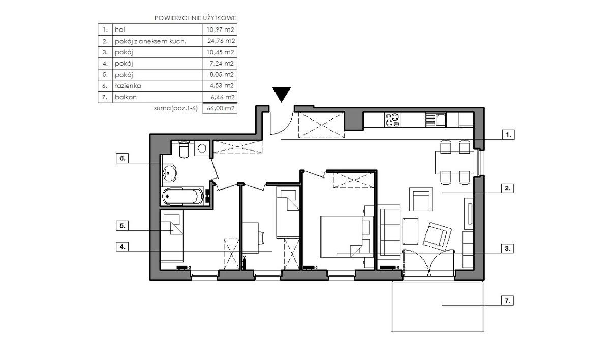 Mieszkanie w inwestycji Signum, Gdynia, 70 m² | Morizon.pl | 3327