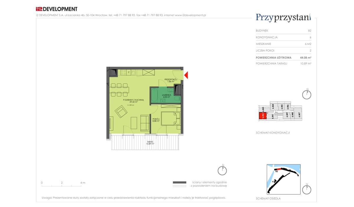 Mieszkanie w inwestycji Przy przystani, Wrocław, 45 m² | Morizon.pl | 8312