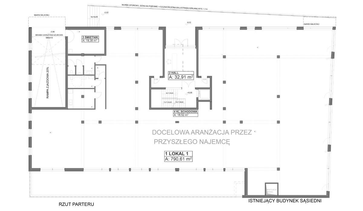 Lokal usługowy w inwestycji Oleander House, Opole, 785 m² | Morizon.pl | 0222