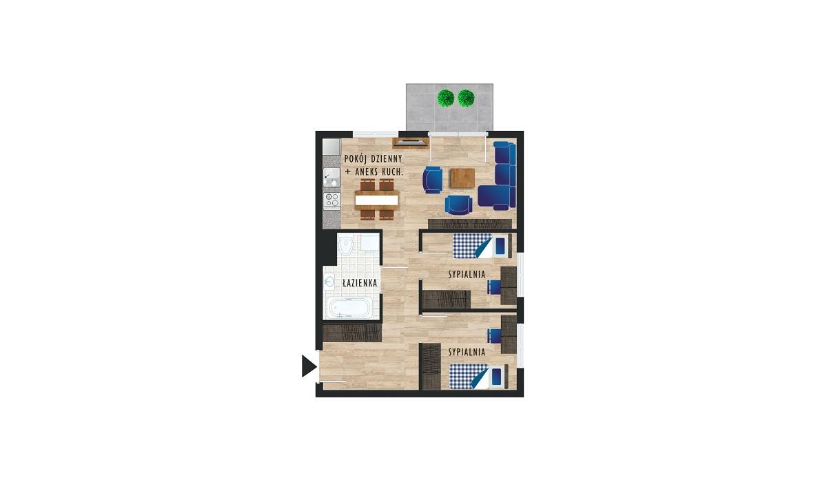 Mieszkanie w inwestycji Karoliny V, Katowice, 49 m²   Morizon.pl   0487