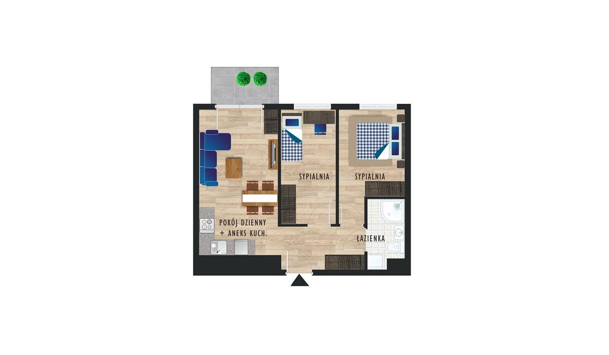 Mieszkanie w inwestycji Karoliny V, Katowice, 49 m² | Morizon.pl | 0457