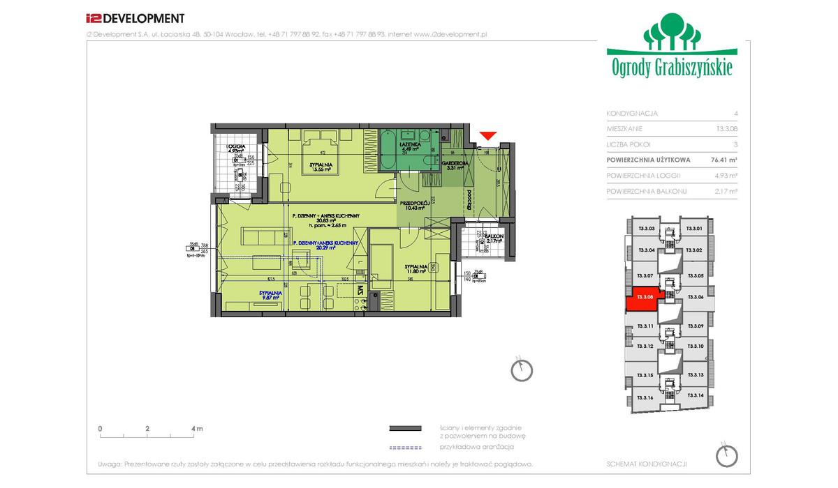 Mieszkanie w inwestycji Ogrody Grabiszyńskie, Wrocław, 76 m² | Morizon.pl | 4592
