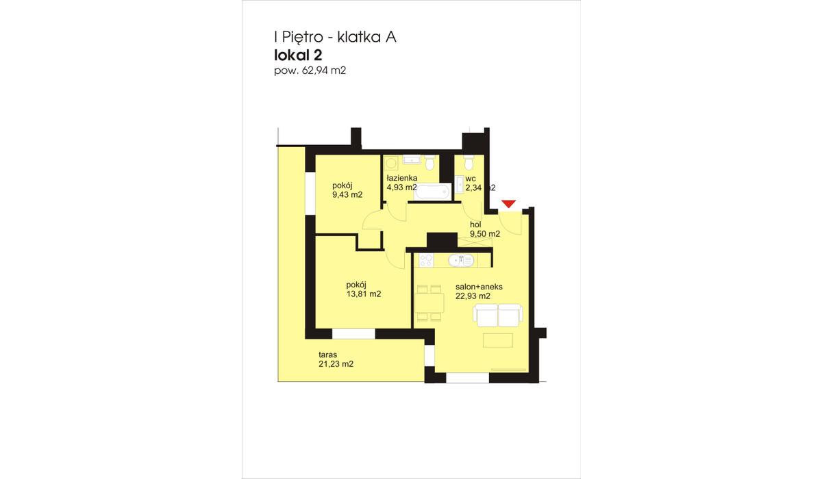 Mieszkanie w inwestycji IVY TOWERS2, Łódź, 63 m²   Morizon.pl   1876