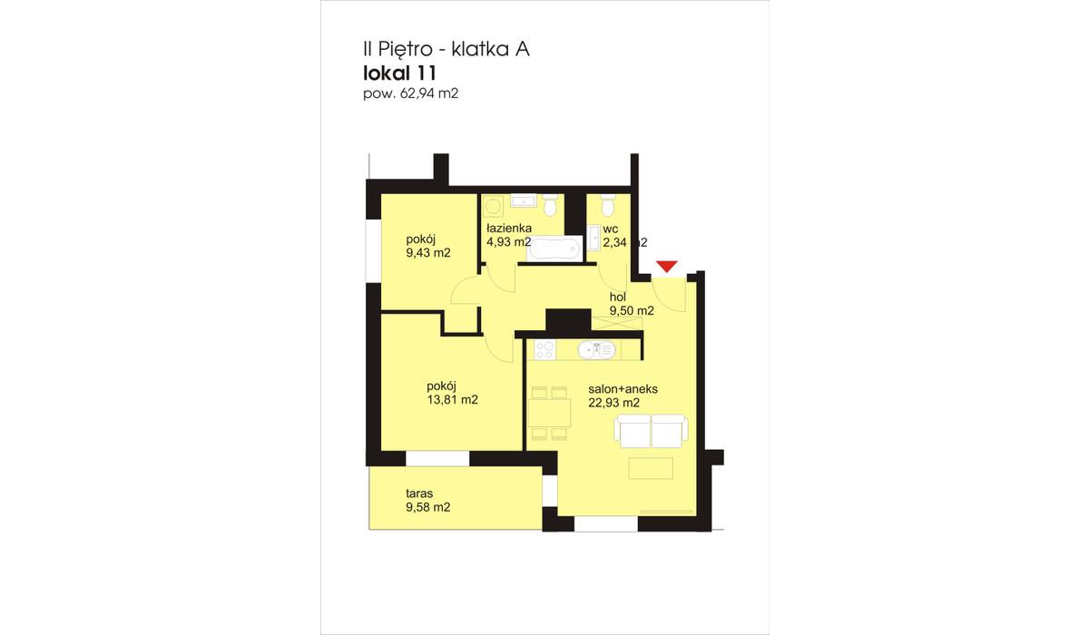Mieszkanie w inwestycji IVY TOWERS3, Łódź, 63 m² | Morizon.pl | 2011