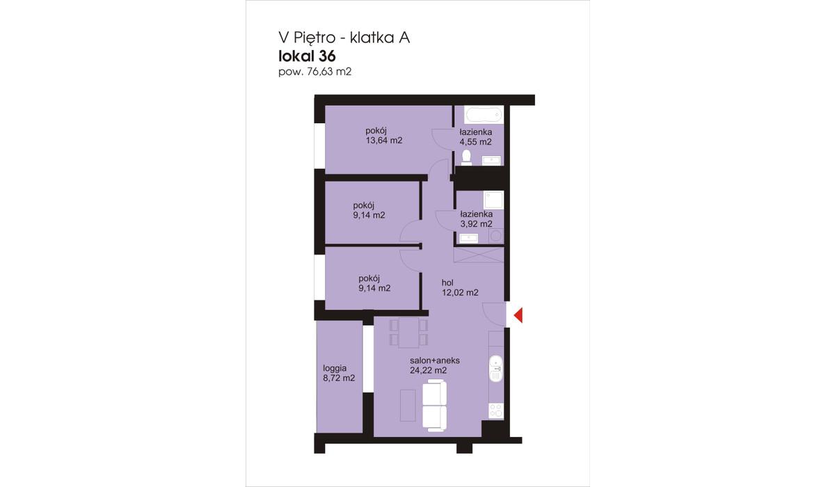 Mieszkanie w inwestycji IVY TOWERS3, Łódź, 77 m² | Morizon.pl | 2037