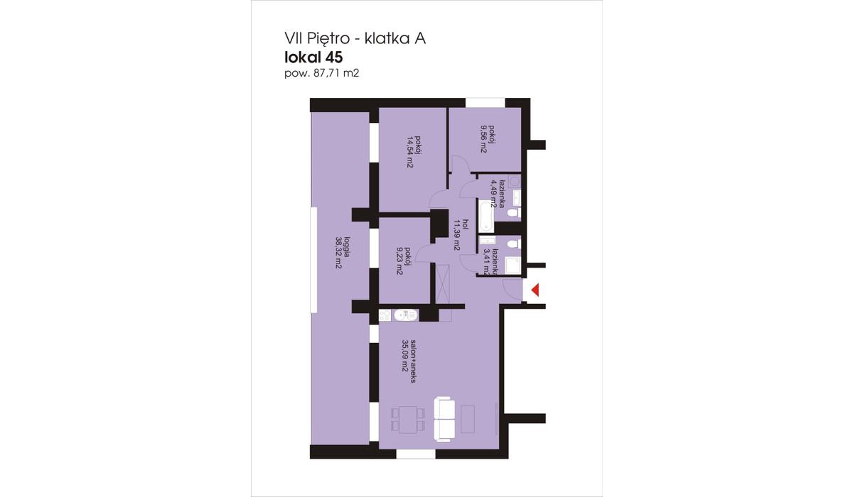 Mieszkanie w inwestycji IVY TOWERS3, Łódź, 88 m² | Morizon.pl | 2046