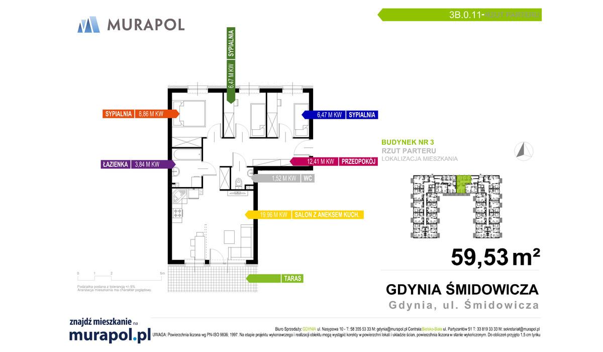 Mieszkanie w inwestycji Murapol Nadmorskie Tarasy, Gdynia, 59 m² | Morizon.pl | 1713