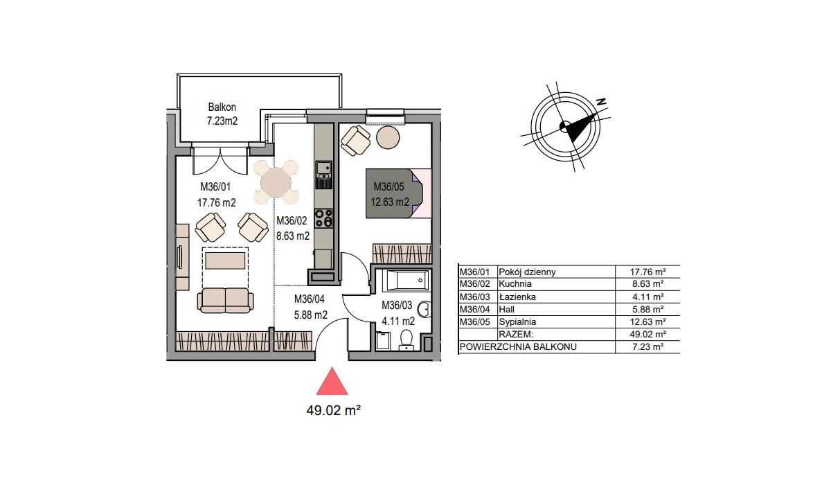 Mieszkanie w inwestycji Dębniki/Ruczaj, Kraków, 49 m² | Morizon.pl | 7483