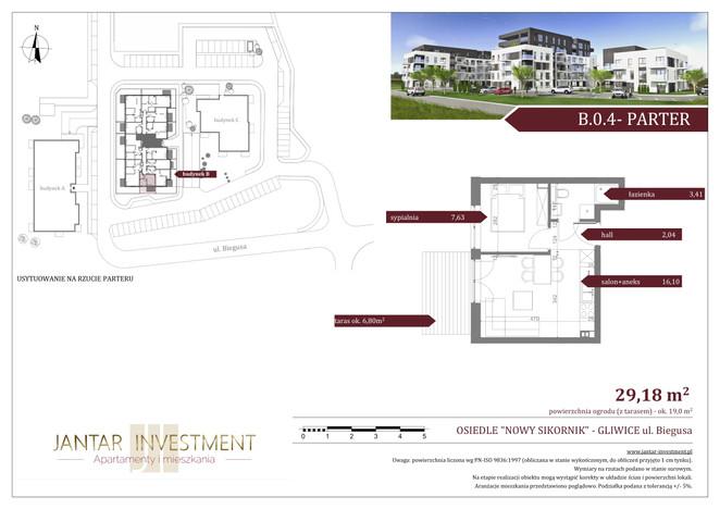 Mieszkanie w inwestycji Nowy Sikornik, Gliwice, 29 m² | Morizon.pl | 2486