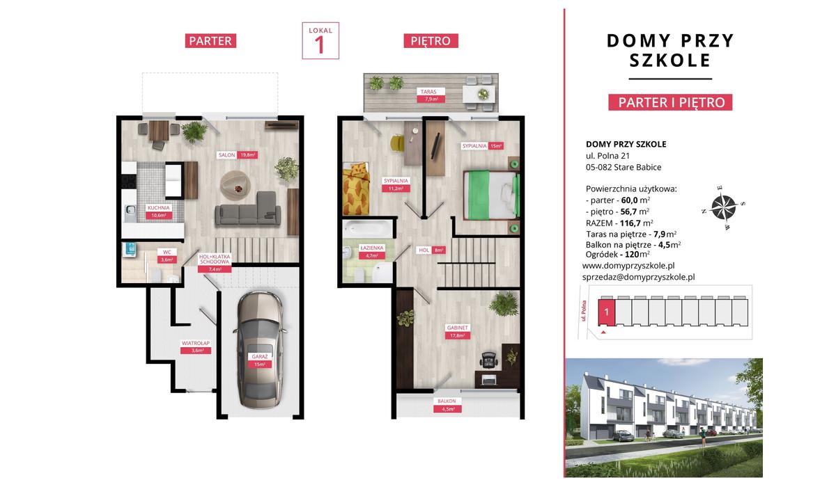 Mieszkanie w inwestycji Domy Przy Szkole, Stare Babice, 117 m² | Morizon.pl | 4996