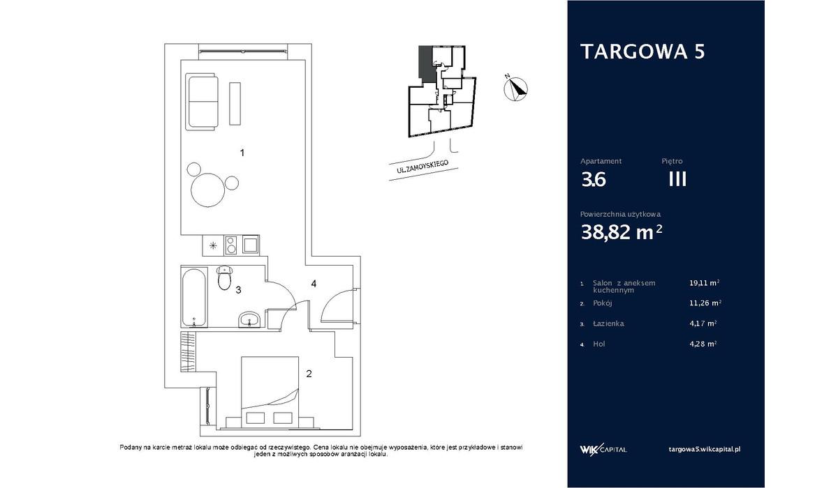 Mieszkanie w inwestycji Tulip Residences, Warszawa, 39 m²   Morizon.pl   0585