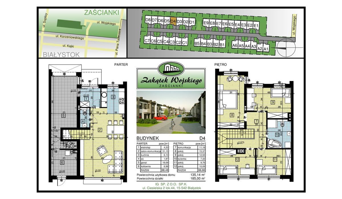 Dom w inwestycji Zakątek Wojskiego, Białystok, 135 m² | Morizon.pl | 5482
