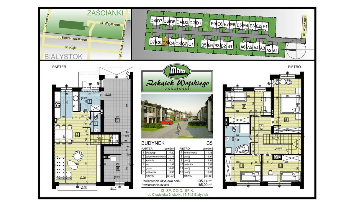 Dom w inwestycji Zakątek Wojskiego, Białystok, 135 m² | Morizon.pl | 5476